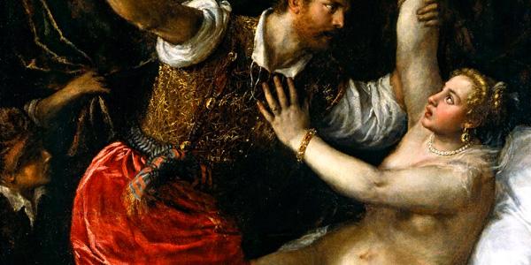 Tarquinius and Lucretia de Tiziano