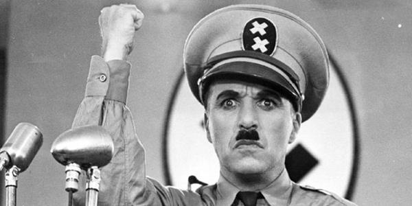 Fotograma de la película El Gran Dictador (1940) de Charles Chaplin.